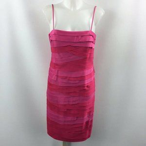 JS Collection Pink Tiered Dress Size 8